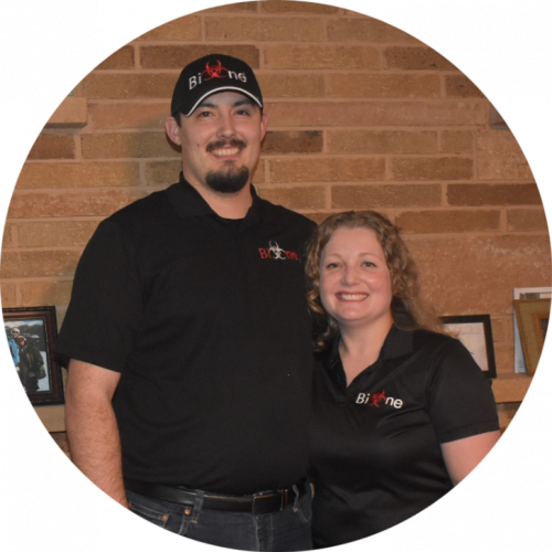 crime scene clean up company owners Derek and Daniela Myers